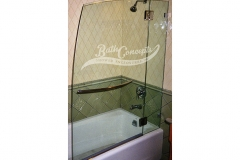 10 Frameless nautica  bathscreen hinged off an inline panel  with a towel bar CLEAR GLASS CHROME HARDWARE 1141 - 1241