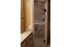 6 Frameless single swinging enclosure CLEAR GLASS OIL RUBBED BRONZE HARDWARE