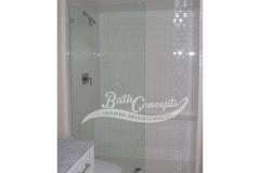 2 Frameless square stationary panel CLEAR GLASS CHROME HARDWARE