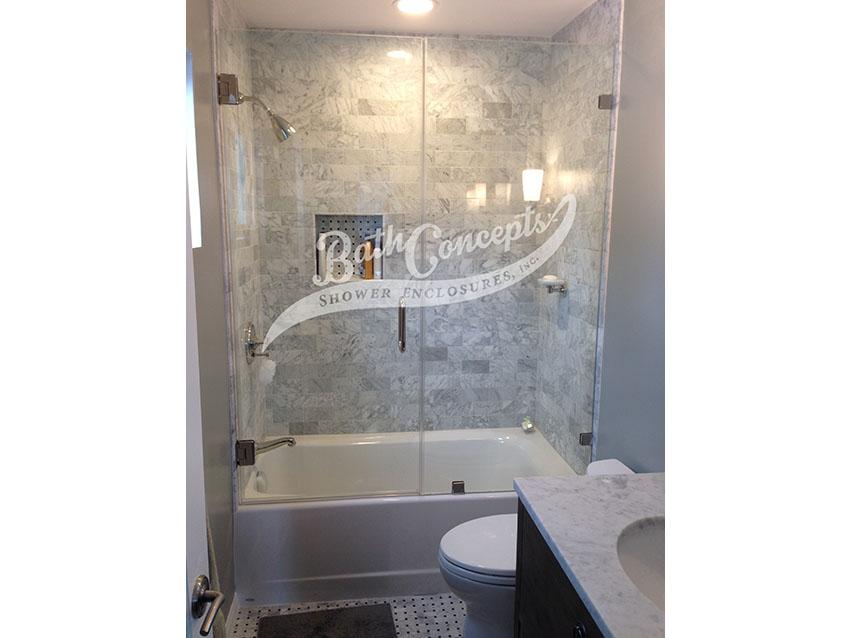 Swinging Doors with Inline Panel(s) - Bath Concepts